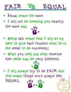 fair v equal