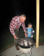 grandpa and felix prepare marshmallows